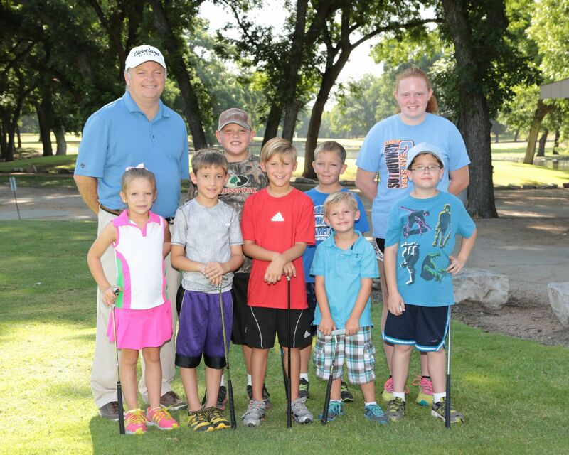 Participants in the Junior Golf Program at San Saba pose for a picture