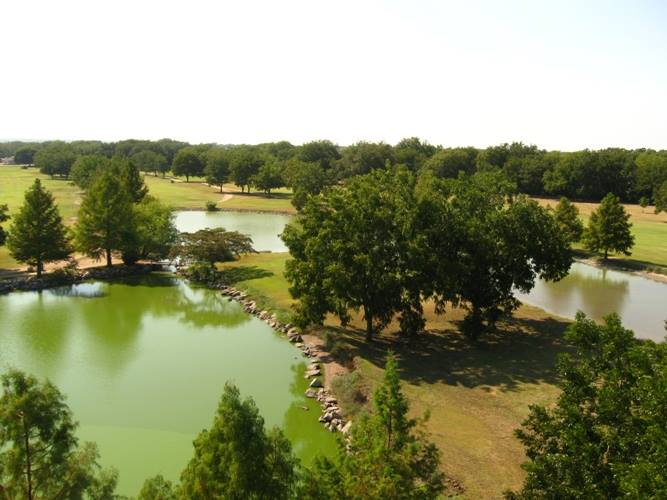 Aerial view of the San Saba River Golf Course
