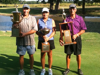 Past San Saba Course Champions Scott Wendlandt, Sandra Baskin and Jerry Mintor